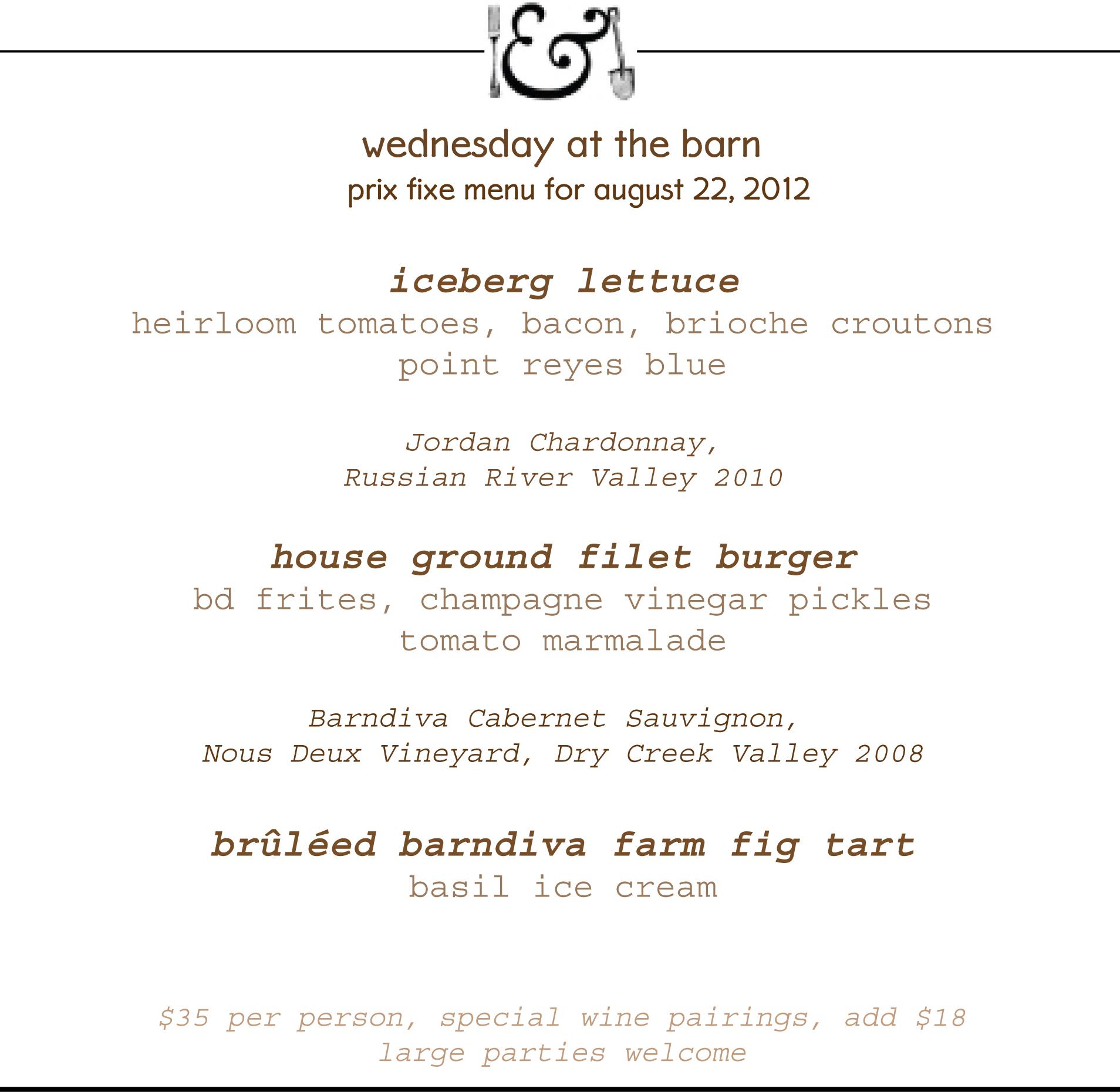 EAT THE VIEW blog — Barndiva