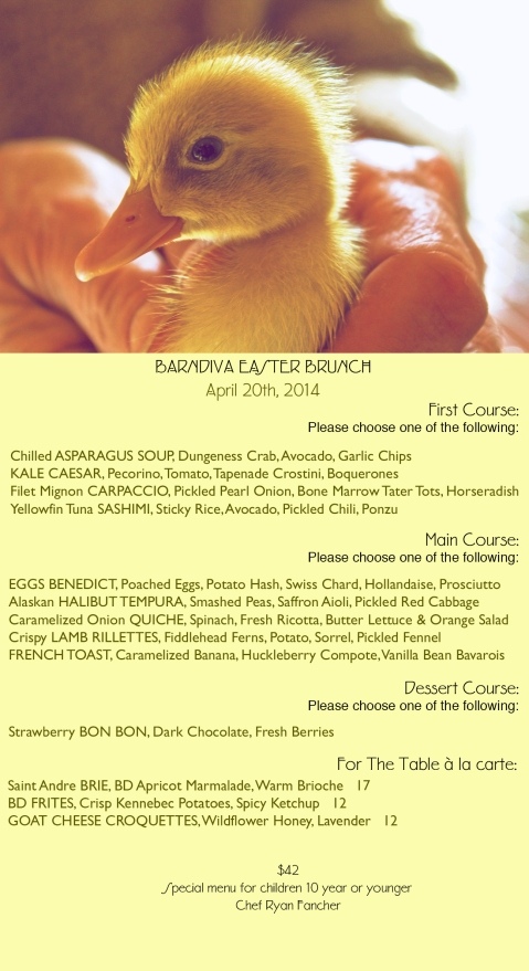 Easter Menu